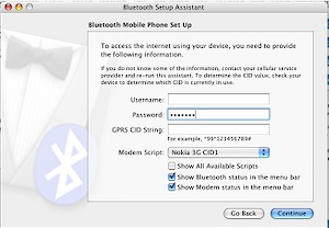 Bluetooth setup